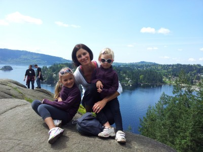 Top of the Quarry Rock Hike in Deep Cove, North Vancouver